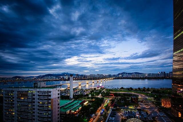 Сеул ночью