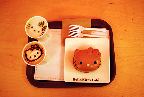 Кафе Hello Kitty в Сеуле