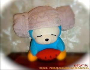 Машимаро в шапочке для сауны
