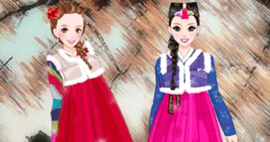 Зимний ханбок для принцесс
