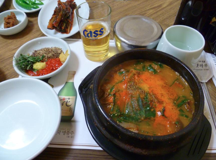 Корейский суп из собачьего мяса