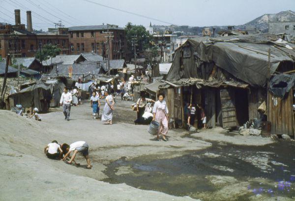 Городские трущобы Корея