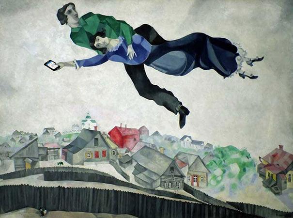 Ремейк картины Над городом