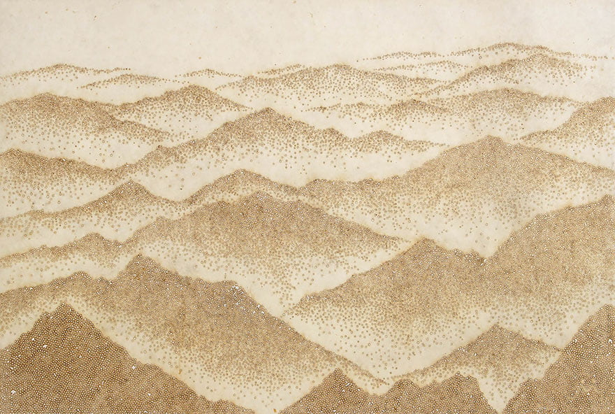 Горы, современный корейский художник