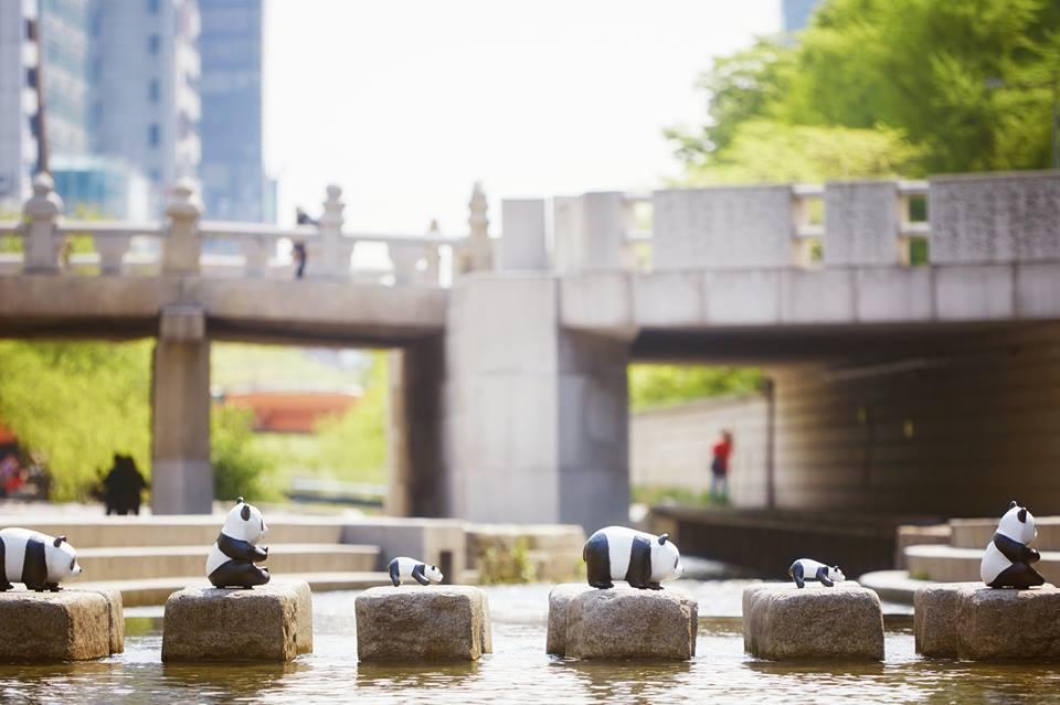 Панды, скульптуры