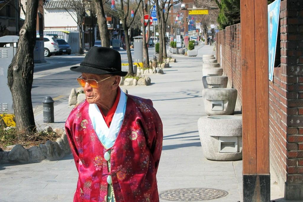 Пожилой кореец