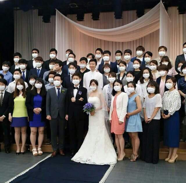 Фото корейской свадьбы во время MERS