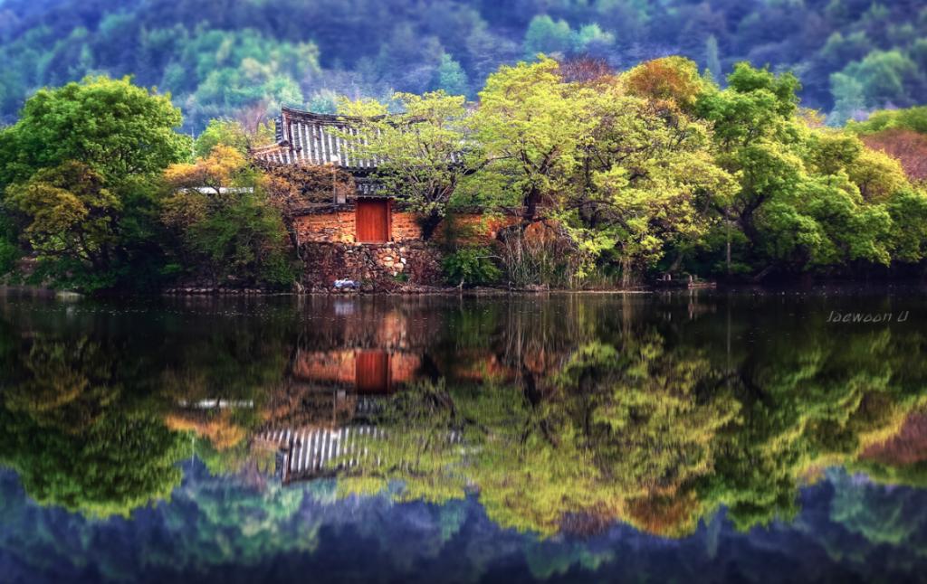 Фото отражение, Южная Корея