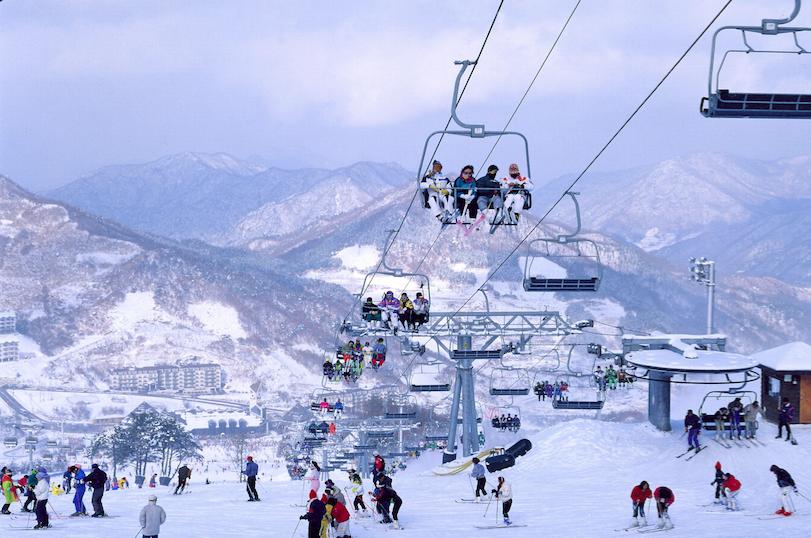 Горнолыжный курорт в Корее