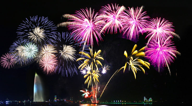 Фестиваль фейерверков в Корее