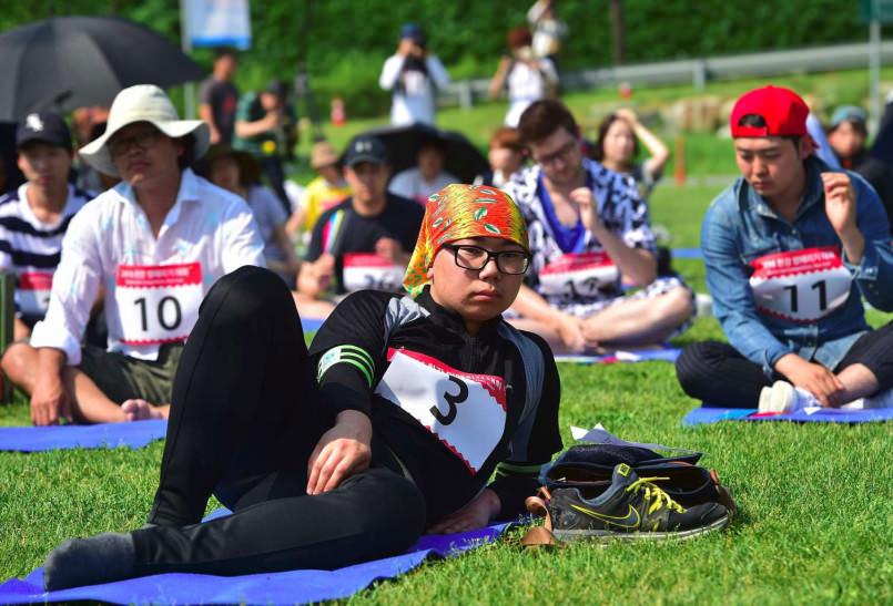 В Корее проходят странные соревнования